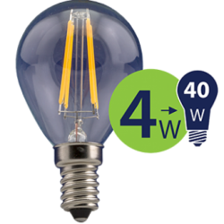 Lempa LED 4W 470lm E14 2700K FL-G45-70201 LEDURO