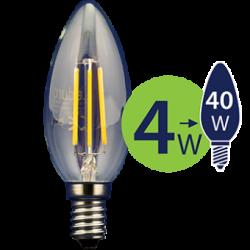 Lempa LED 4W 470lm E14 2700K FL-C35-70301 LEDURO