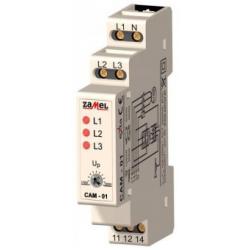 Relė CAM-01 230V/400V fazių asimetrijos