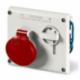 Kištukinis įmontuojamas lizdas su blokiruote Omnia IP44
