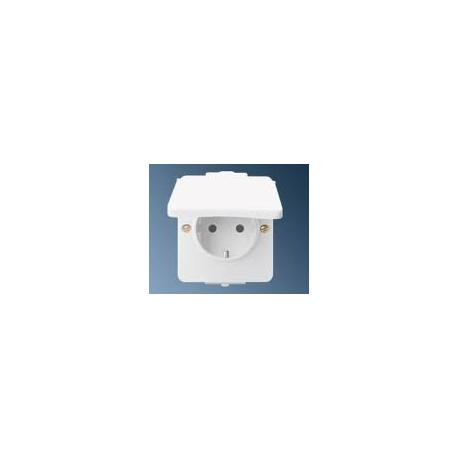 Kištukinis lizdas schuko su įž. Hermetica IP 44