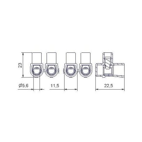 Jungimo kaladėlės skaidrios 500 serija