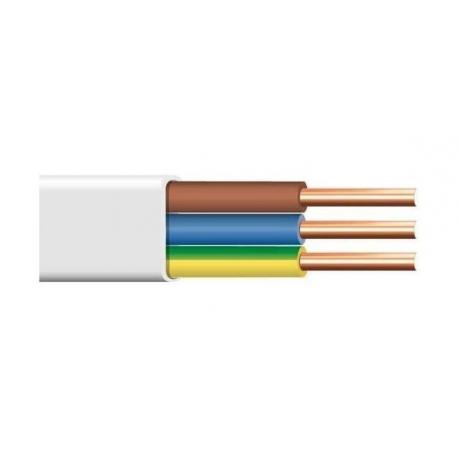 Plokščias instaliacinis kabelis su PVC izoliacija YDYp (BVV-P)