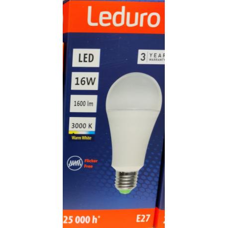 Lempa LED 16W 3000K 220-240V A65 E27 21216 Leduro