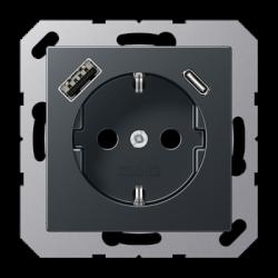 Kištukinis lizdas su USB krovikliu A 500 serija